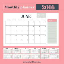 Monthly Planner Free Download Cute Monthly Planner Vector Free Download