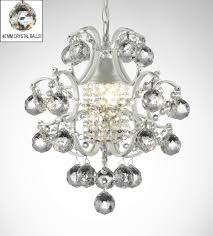 wrought iron crystal orb chandelier to enlarge