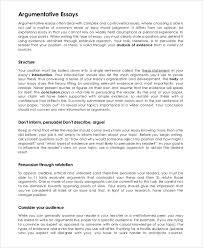 argumentative essay sample sample argumentative essay on  argumentative essay example 9 samples in pdf word