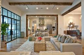 stunning living room open to kitchen