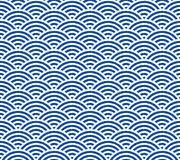 Japanese Wave Pattern Extraordinary Japanese Retro Blue Sea Wave Pattern Stock Vector Illustration Of
