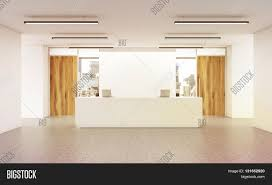 office lobby designs. Office Lobby Interior With Reception Desk Concrete Floor Wall Wooden Doors And City View. 3D Designs E