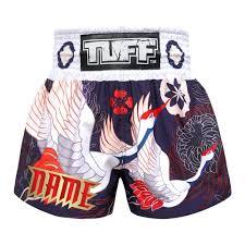<b>Custom</b> TUFF <b>Muay Thai Boxing</b> Shorts Navy Blue Japanese ...
