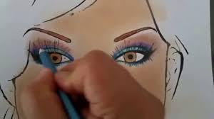 makeup face charts by elanoir plum tone eyeshadow colours