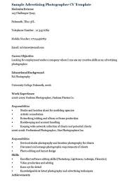 Photographer Resume Objective Medical School Personal Statement Help Objective Advertising 94
