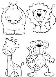 Baby Zoo Animals Coloring Pages Cute Free Animal C Avatherminfo