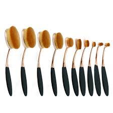 10pcs makeup brushes set foundation powder brush oval toothbrush shape soft brushes for women beauty tool pinceles de maquillaje