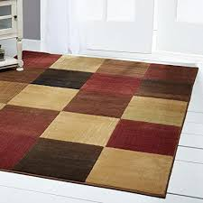 home dynamix catalina brookings area rug classic living room rug minimalist geometric pattern beautiful earth tones brown beige and red 5 3 x7 2