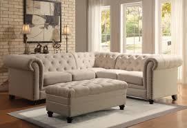 Living Room Sectional Sets Roy Oatmeal Living Room Sectional 3pc Set For 185994 Furnitureusa