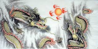 dragon chinese painting