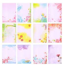 96 Writing Stationery Paper Pad Letter Decorative Elegant Kraft Plain Letter Writing Paper Sets 12 Pattern 8 Pcs Each Pattern