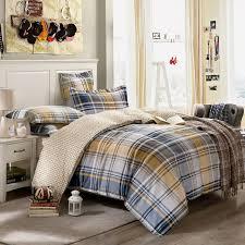 mixed color plaid stripe 100% Cotton Bedclothes Twin Queen Double ... & mixed color plaid stripe 100% Cotton Bedclothes Twin Queen Double size Quilt /Duvet cover Adamdwight.com