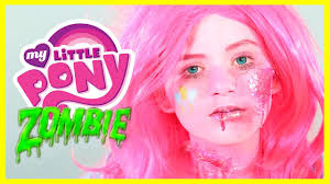 zombie my little pony pinkie pie makeup tutorial equestria doll cosplay kittiesmama