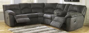 reclining sectional grey. Interesting Reclining Soft 2 Piece Reclining Sectional In Grey For T