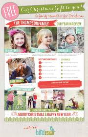 Holiday Newsletter Template 24 Free Christmas Letter Templates That You'll Love 18