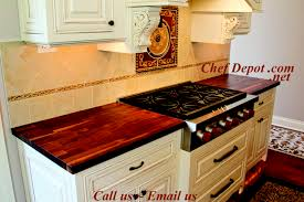 edge grain blended walnut kitchen counter top