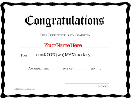 Best Ideas Of Congratulations Certificate Templates Free On