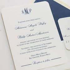 Elegant Monogram Wedding Invitations Iidaemilia Com
