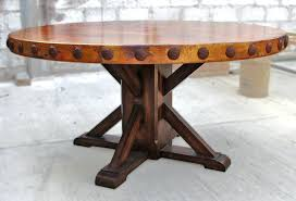 round table woodland trestle tables for com in round rustic dining table decor 1 woodland