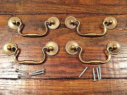 drop bail drawer pulls.  Bail 4 Vintage Solid Brass Drop Bail Style Drawer Pulls Handles NOS With L