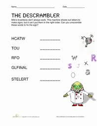 unscramble spelling words sight words
