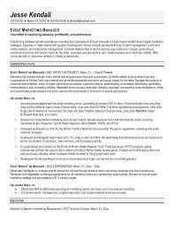 Sponsorship Resume Template Fascinating Marketing Director Resume Example Event Marketing Manager Resume