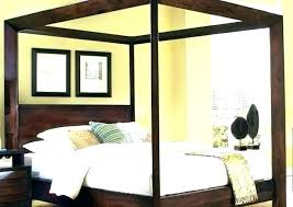 White Canopy Bed Frame Twin Wood Canopy Bed Twin Wood Canopy Bed ...
