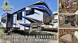 new 2019 vengeance 381l12 6 luxury toy hauler fifth wheel rv greeley colorado dealer