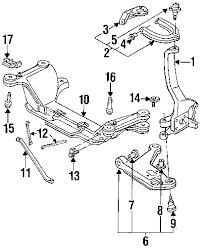 com acirc reg pontiac front suspension suspension components susp 1999 pontiac firebird base v6 3 8 liter gas front suspension