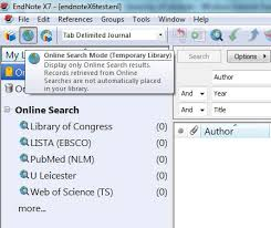 Endnotes References Importing References Endnote University Of Leicester