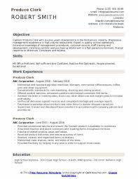 Store Clerk Resumes Produce Clerk Resume Samples Qwikresume