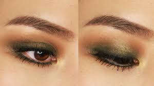 5 minute green smokey eye makeup tutorial for small or hooded eyes you