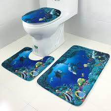 Bedruckt Im Europäischen Stil Badezimmer Wc Set Waschbar Badematte