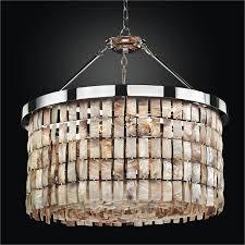 drum shape oyster shell chandelier la jolla 619hm28sp