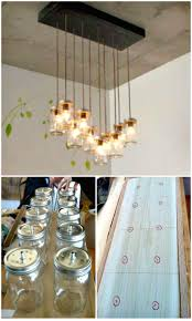 how to diy mason jar chandelier free tutorial