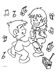 Kleurplaat Dansen Op De Muziek Kleurplatennl