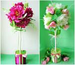 Цветы своими руками из ткани для топиария