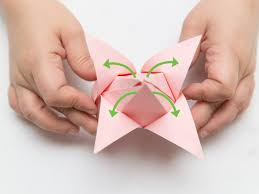 How To Make Flower With Paper Folding Origami The Craft Patch Accordion Fold Paper Flowers Paper Folding
