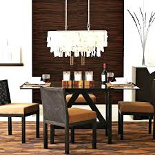 dining table chandelier height chandeliers room contemporary with well modern rectangular