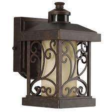 outdoor lighting wall mount motion sensor. progress lighting cypress collection 1-light forged bronze motion sensing outdoor wall lantern-p5926-77 - the home depot mount sensor o