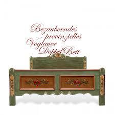 Voglauer Bett Doppelbett Bemalt Handbemalt Bauernbett
