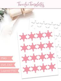 Party On Designs Etsy Sheriff Star Badge Template Party Printable Collage Template Cutting File Sheet Design Your Own Commercial Use Psd Png Svg Tt84