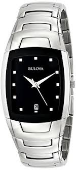amazon com bulova men s 96g46 stainless steel watch link bulova men s 96g46 stainless steel watch link bracelet