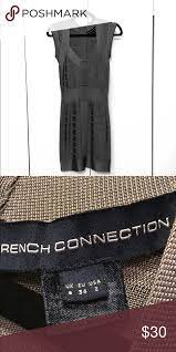 Women S Gray French Connection Bodycon Dress Women S Gray Silver French Connection Bodycon Dress Size Us 2 Only W French Connection Dress Women Bodycon Dress