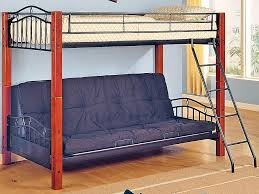 couch that turns into a bunk bed. Brilliant That White Painted Wooden Twin Convertible Loft Bed With Brown Leather Chair Couch That Turns Into A Bunk