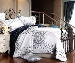 luxury cotton solid white bedding set king queen size quilt duvet cover sheets bed in a
