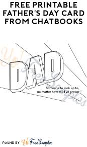 It's perfect to use in church or sunday if you want even more, we have a set of printable i love daddy cards that children can color as a. Free Printable Father S Day Card From Chatbooks Yo Free Samples
