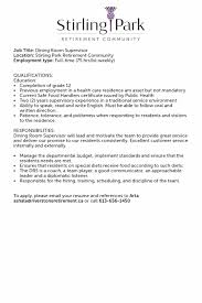 Restaurant Supervisor Job Description Resume template Supervisor Job Description Template 81