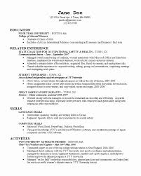 Resume For College Freshman Best Of Resume College Freshman Resume