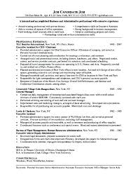 Resume Sample Executive Assistant Resume Examples For Administrative